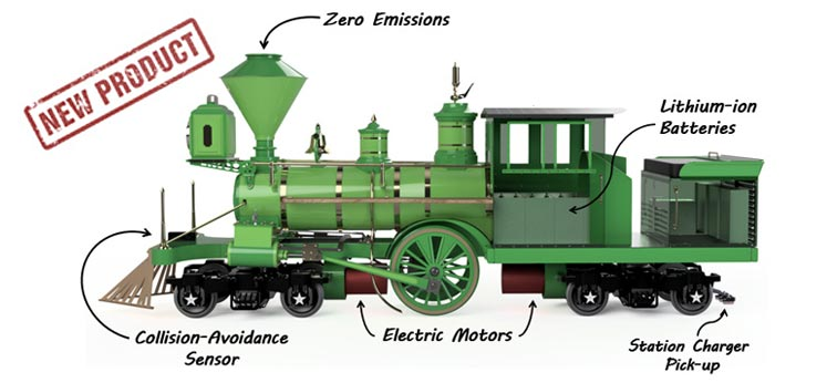 Electric C.P. Huntington Train