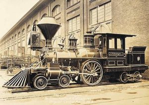 Original 1863 C.P. Huntington Locomotive