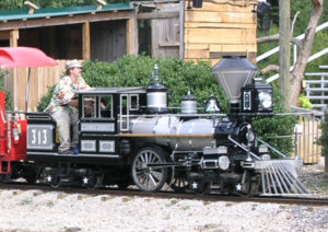 Chance Rides C.P. Huntington Locomotive