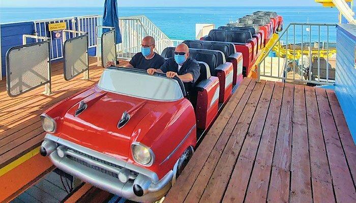 Santa Monica Pier Pacific Park Route 66 Roller Coaster